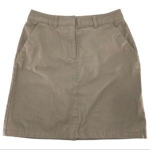 IZOD Kids Khaki School Wear Uniform Skirt Sz 5